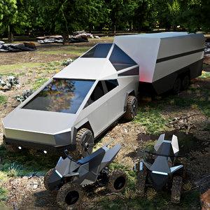 3D cybertruck truck model