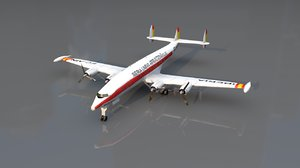 3D lockheed constellation airplane model