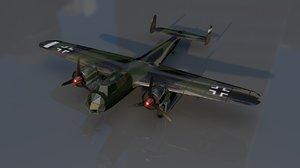 dornier 17 military fighter aircraft model