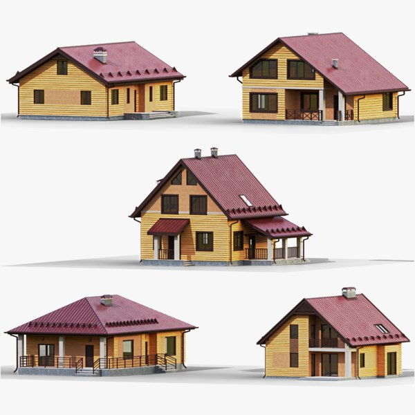 3D gameready house 3 model