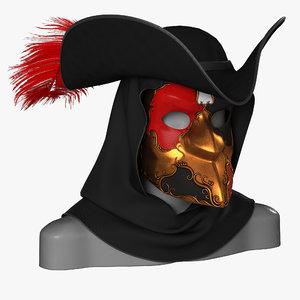 mask bauta venetian 3D model