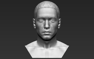 eminem bust ready printing 3D model