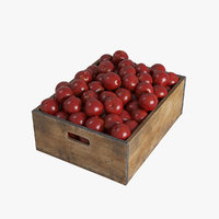 fruit apple crate model