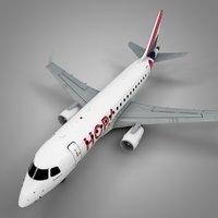 3D model hop! airfrance embraer170 l450