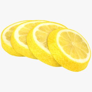 3D realistic lemon slices model