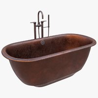 3D antique bathtub model