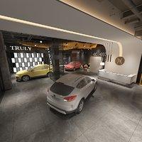 3D showroom 4 model