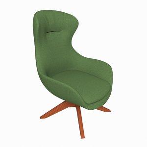 3D armchair iseo chair model