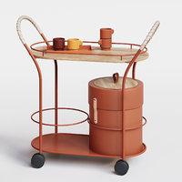 3D tea trolley bistro mizetto