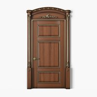 Classic Wooden Door with Carved Elements