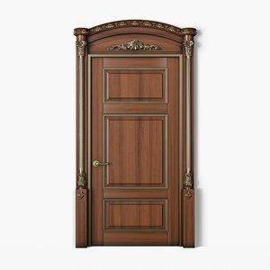 3D classic wooden door model