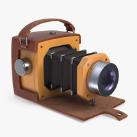 cartoon camera 3D model