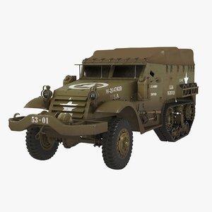 3D military vehicle tracks model