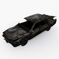 3D damaged car type 01