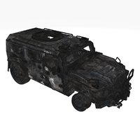 Damaged military car 01 A