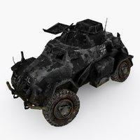3D damaged apc type 01 model