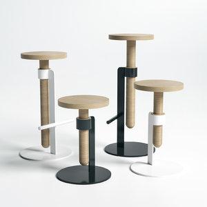 3D avvitamenti stools carlo contin