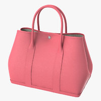 Hermes Pink Leather Garden Party 36 Bag