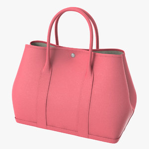 hermes pink leather garden 3D