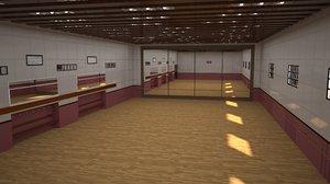 3D dance ballet hall
