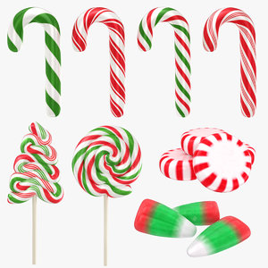 christmas candy 2 3D model
