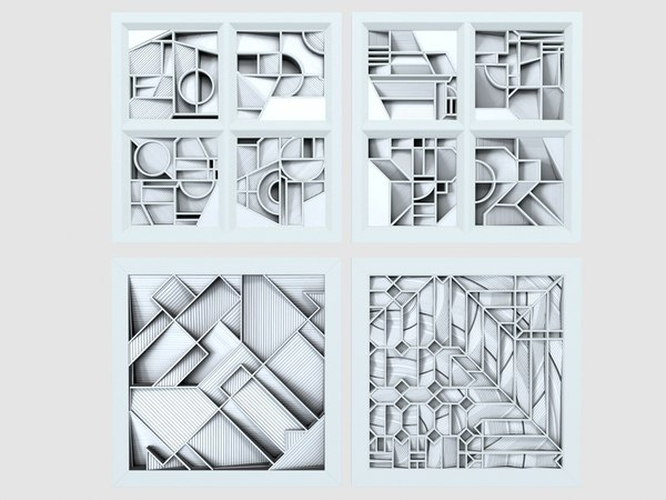 3D constructions paper cut relief model