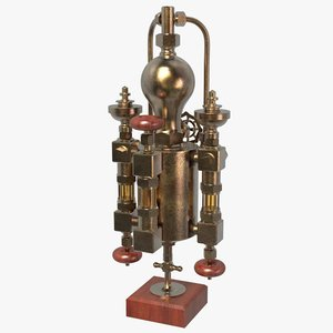 vintage locomotive lubricator 3D