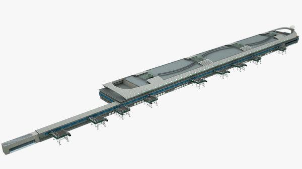 hong kong marine terminal 3D model