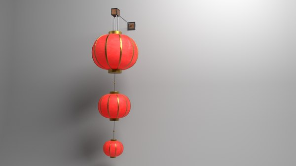 3D model traditional chinese lantern