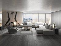 Modern Grey Set of Furniture for Living Room