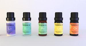 3D model essential oils