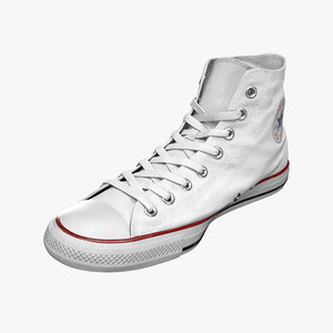 converse star sneakers 3D model