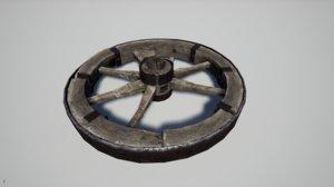 3D broken wheel model