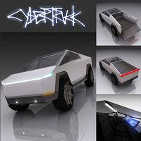 tesla cyber truck 3D model