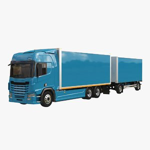 generic box truck tandem 3D model