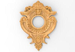 3D frame mirror baroque