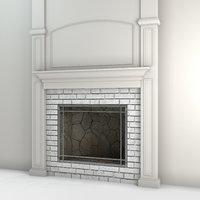 3D hearth fireplace