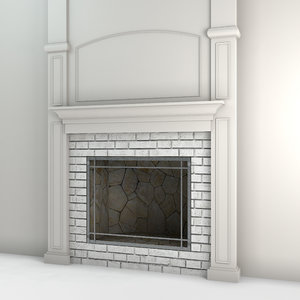 3D hearth fireplace