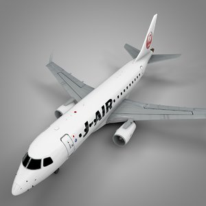 j-air embraer170 l451 3D model
