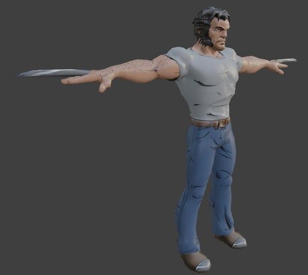 3D model wolverine