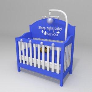 3D design crib nursery