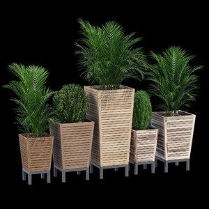 3D model plant pot ozone