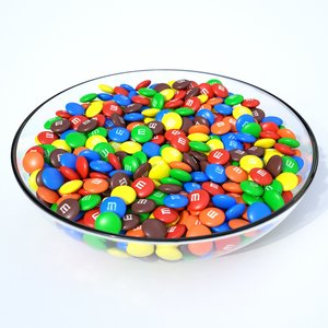 3D candy bowl model