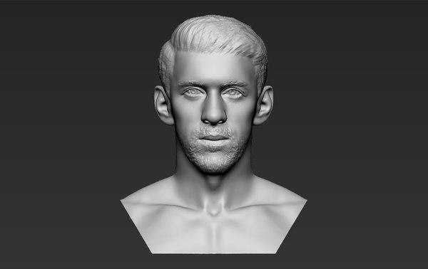 3D model michael phelps bust ready