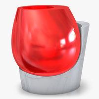 3D modern glass vase model
