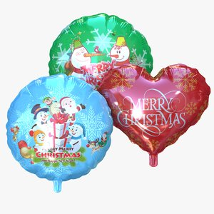 3D merry christmas foil balloon