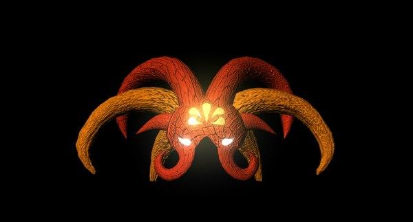 3D alien arachnipien helmet model