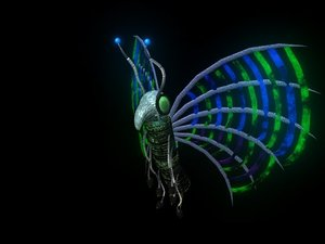 3D butterfly robot batterifly