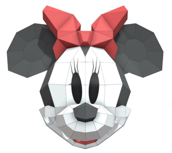 3D mask minnie mouse model