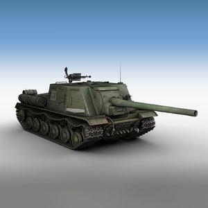 3d isu-122 - soviet self-propelled model